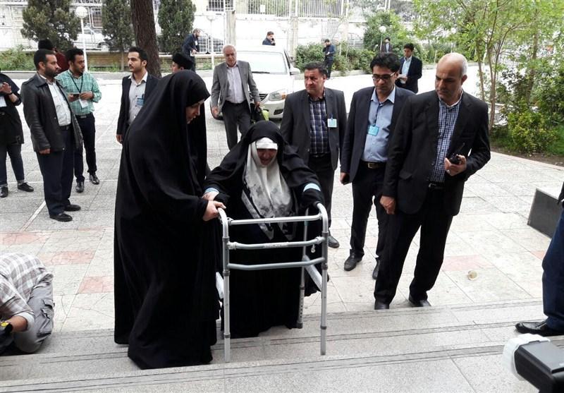 دختر مرحوم آیتالله طالقانی در انتخابات ثبتنام کرد + عکس