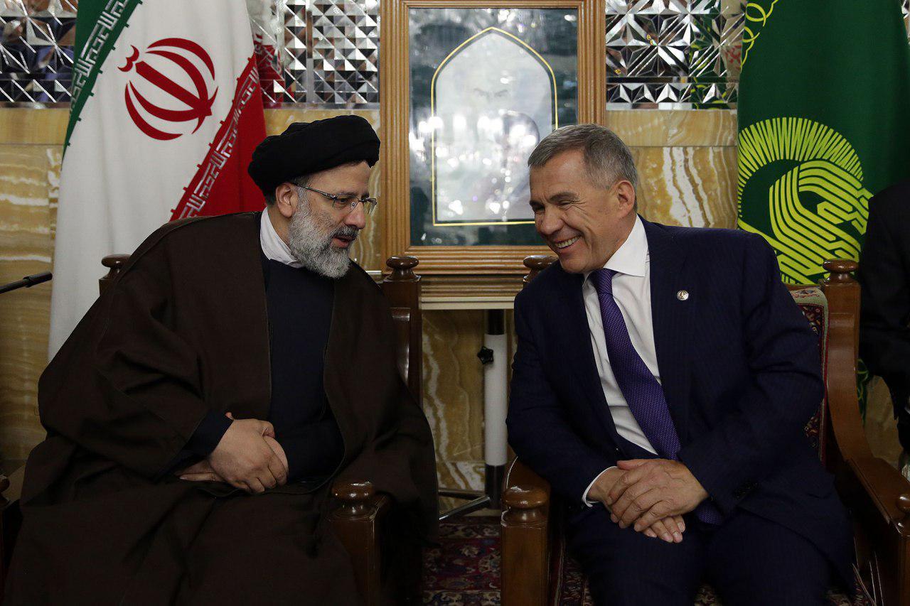 دیدار حجت الاسلام رئیسی با رئیس جمهور تاتارستان
