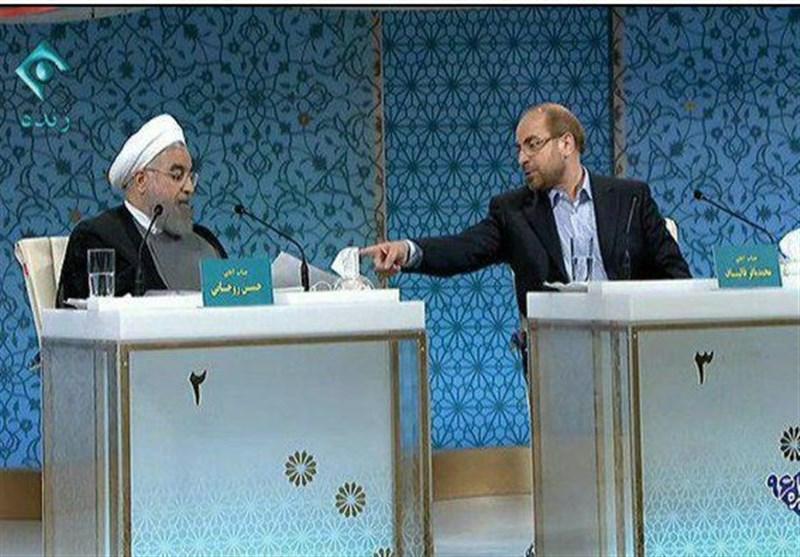 فیلم جنجالی کمک مالی بابک زنجانی به ستاد روحانی / بحث داغ بین روحانی و قالیباف در مناظره